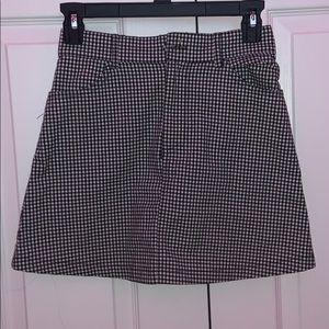 John Galt/Brandy Melville Checkered Skirt